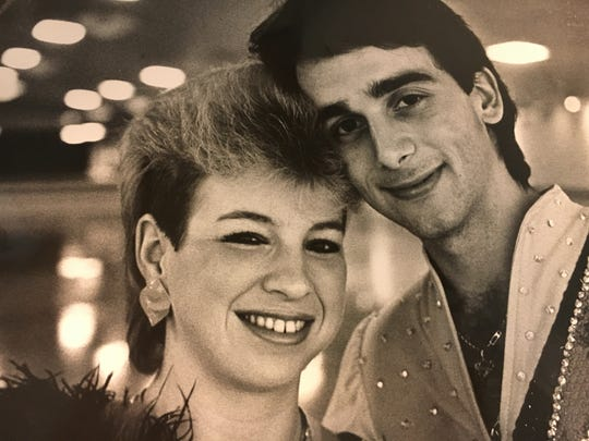 World champion skaters Scott Myers and Anna Marie Danks at the Christina Skating Center in the 1980s.