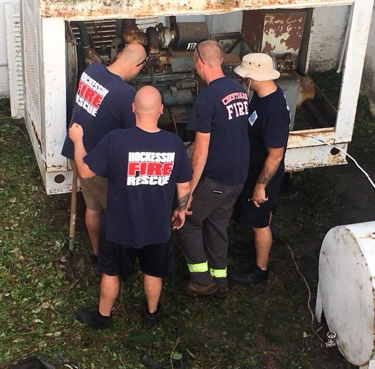 Delaware firefighters aided North Carolina after Hurricane Florence ravaged Morehead City. Crews headed down Saturday and plan to spend at least a week helping communities by responding to emergencies, relieving local responders, and picking up the aftermath of the hurricane.
