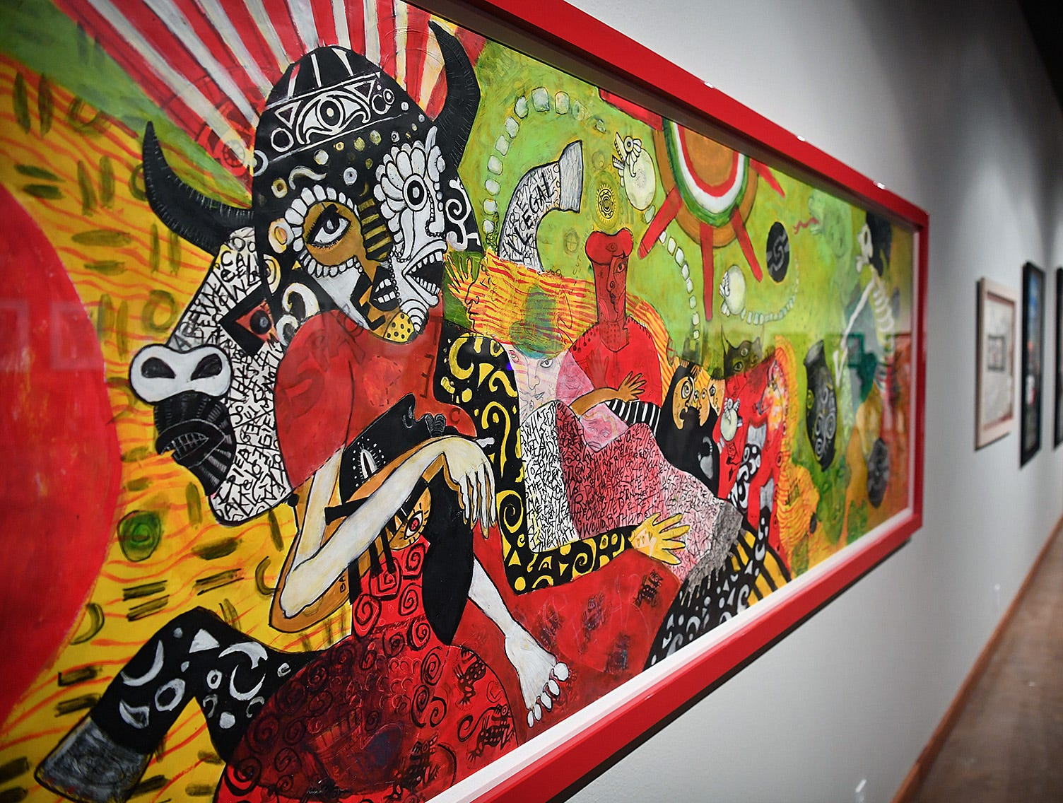 A large piece by CiCi Segura Gonzalez titled, Soy Chicana, 2013, is part of the Cheech Marin collection on display at the Wichita Falls Museum of Art at Midwestern State University.
