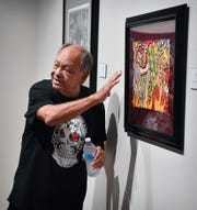 Chicano art collector Cheech Marin describes the way different pieces of art make him feel and make their way into his collection. Seventy pieces from his collection of 800 are exhibited at the Wichita Falls Museum of Art at Midwestern State University through December 1.