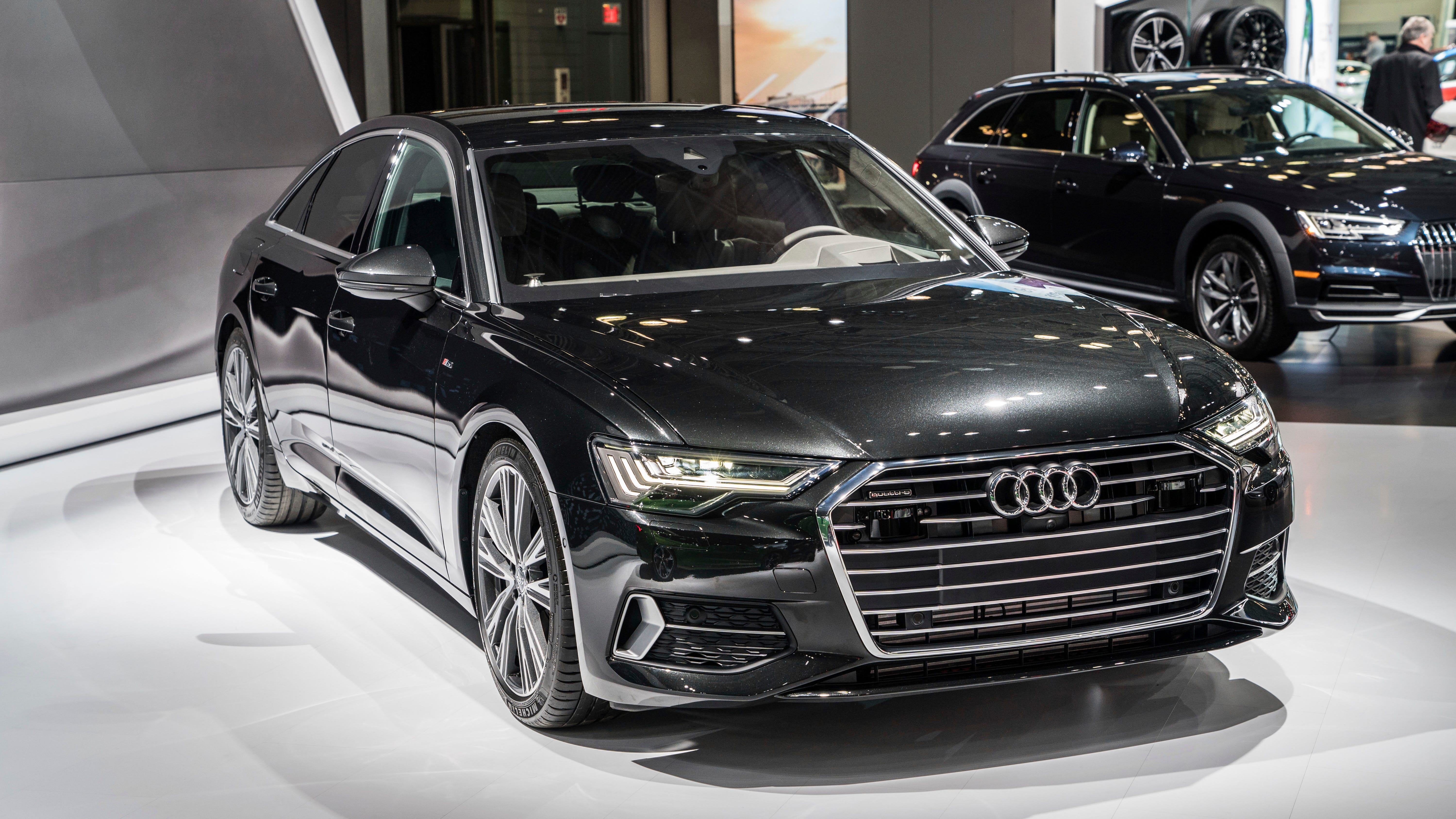 This undated photo provided by Audi shows the 2019 Audi A8. Magic Body Control from Mercedes-Benz scans the road ahead in order to react to bumps and ruts. In a fraction of a second, the system executes a specific suspension motion to counteract a road flaw in an effort to ride over it as though it were smooth and flat. Audi says it will have a similar system on the forthcoming 2019 A8 sedan. (Courtesy of Audi AG via AP)