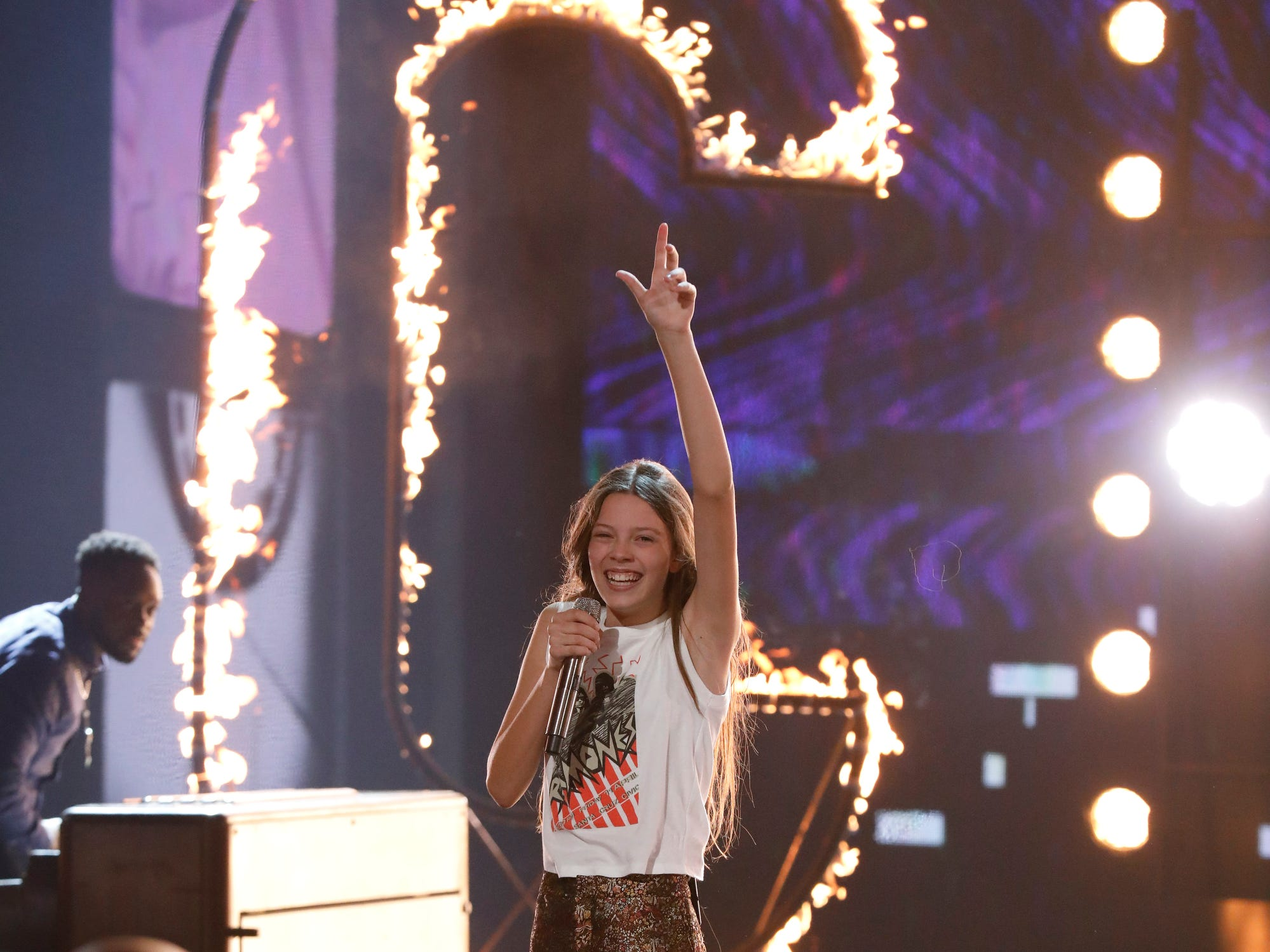 "AMERICA'S GOT TALENT --  ""Live Finale"" Episode 1321 -- Pictured: Courtney Hadwin -- (Photo by: Trae Patton/NBC)"