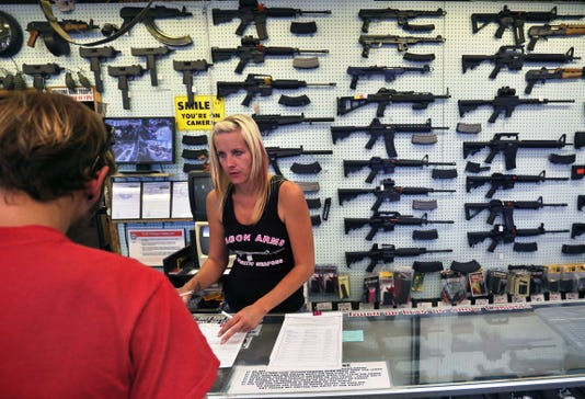 When gun buyers are caught in 'lie-and-try,' how many are prosecuted? 12