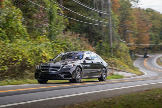 """This undated photo provided by Mercedes-Benz, shows the 2018 Mercedes-Benz S 450 sedan. In a few of its vehicles, such as S-Class models, Mercedes-Benz has a similar """"partial driving automation system,"""" to use the latest definition from the Society of Automotive Engineers. (Courtesy of Mercedes-Benz USA via AP)via AP)"""