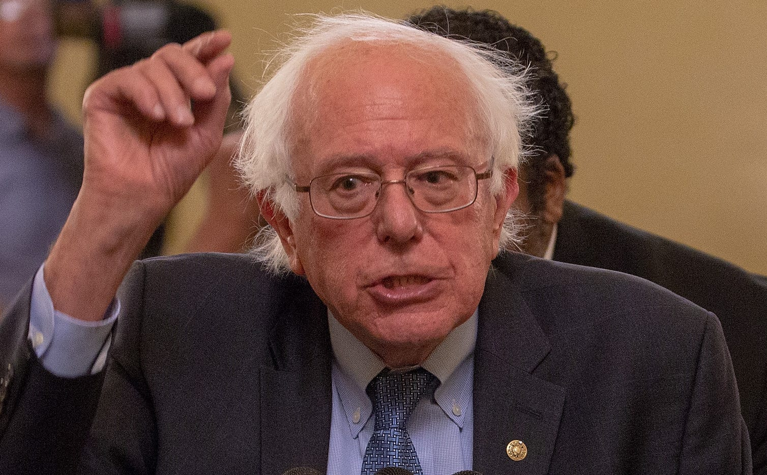 Sen. Bernie Sanders, I-Vt., attends a press conference on July 24, 2018 in Washington.