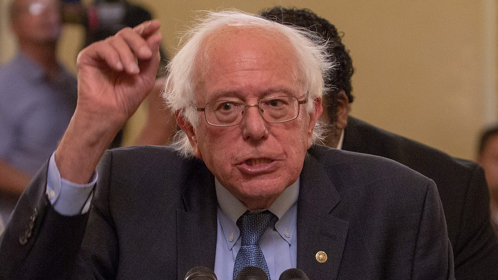 Sen. Bernie Sanders, I-Vt., attends a press conference on July 24, 2018 in Washington.