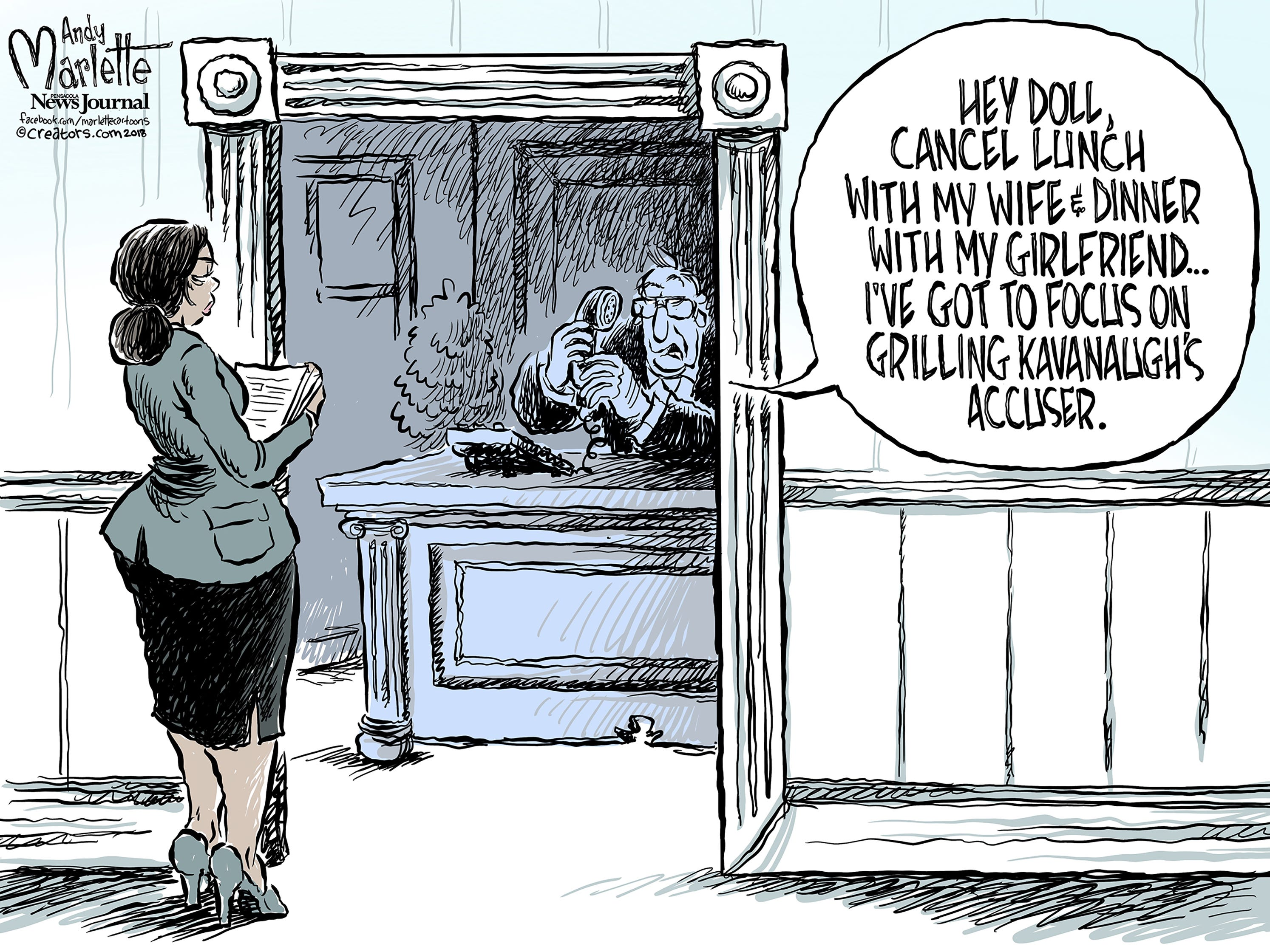 The cartoonist's homepage, pnj.com/opinion