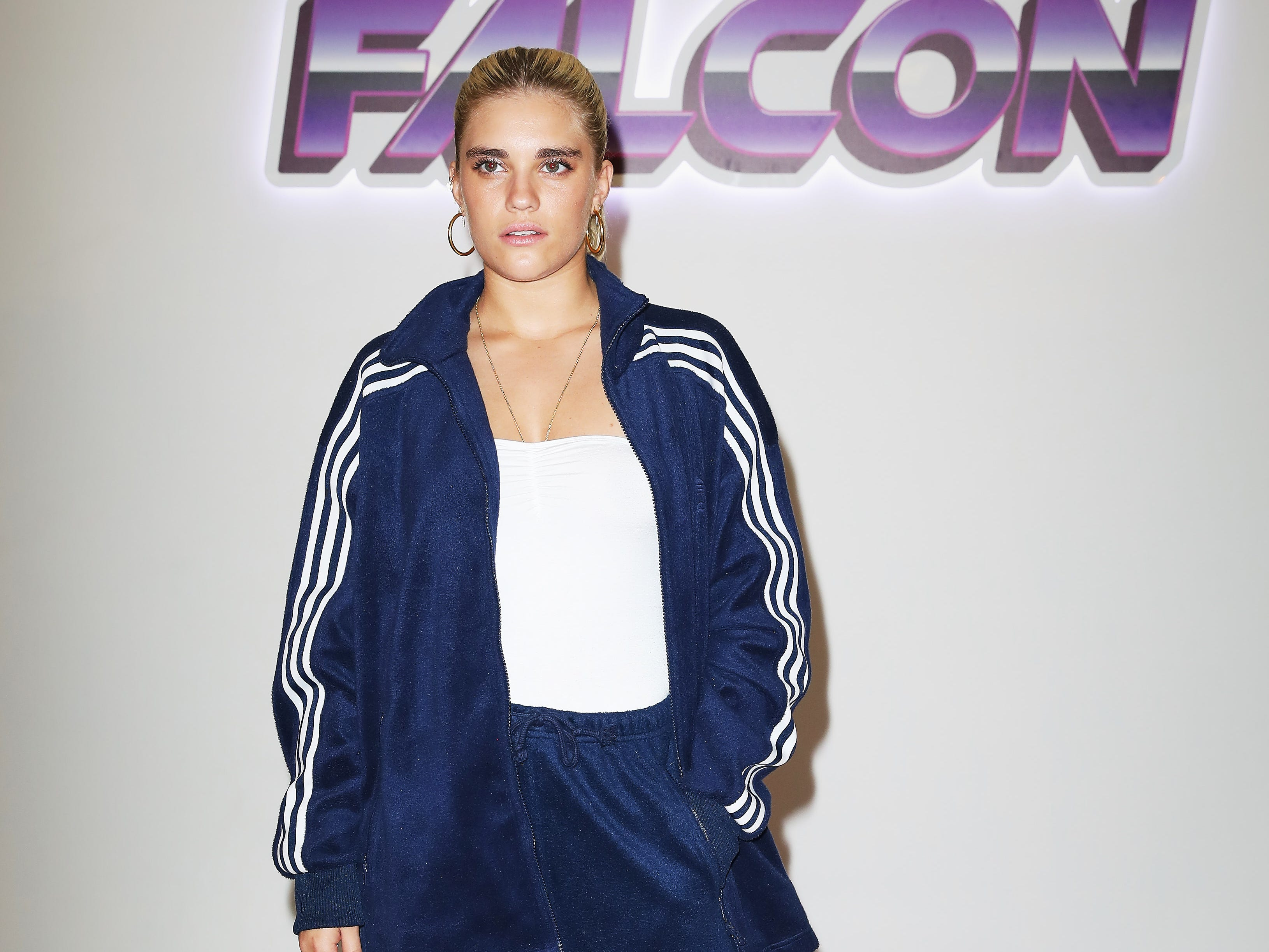 LONDON, ENGLAND - SEPTEMBER 17:  Tigerlily Taylor attends the JD and adidas Falcon fashion show curated by Hailey Baldwin on September 17, 2018 in London, England.