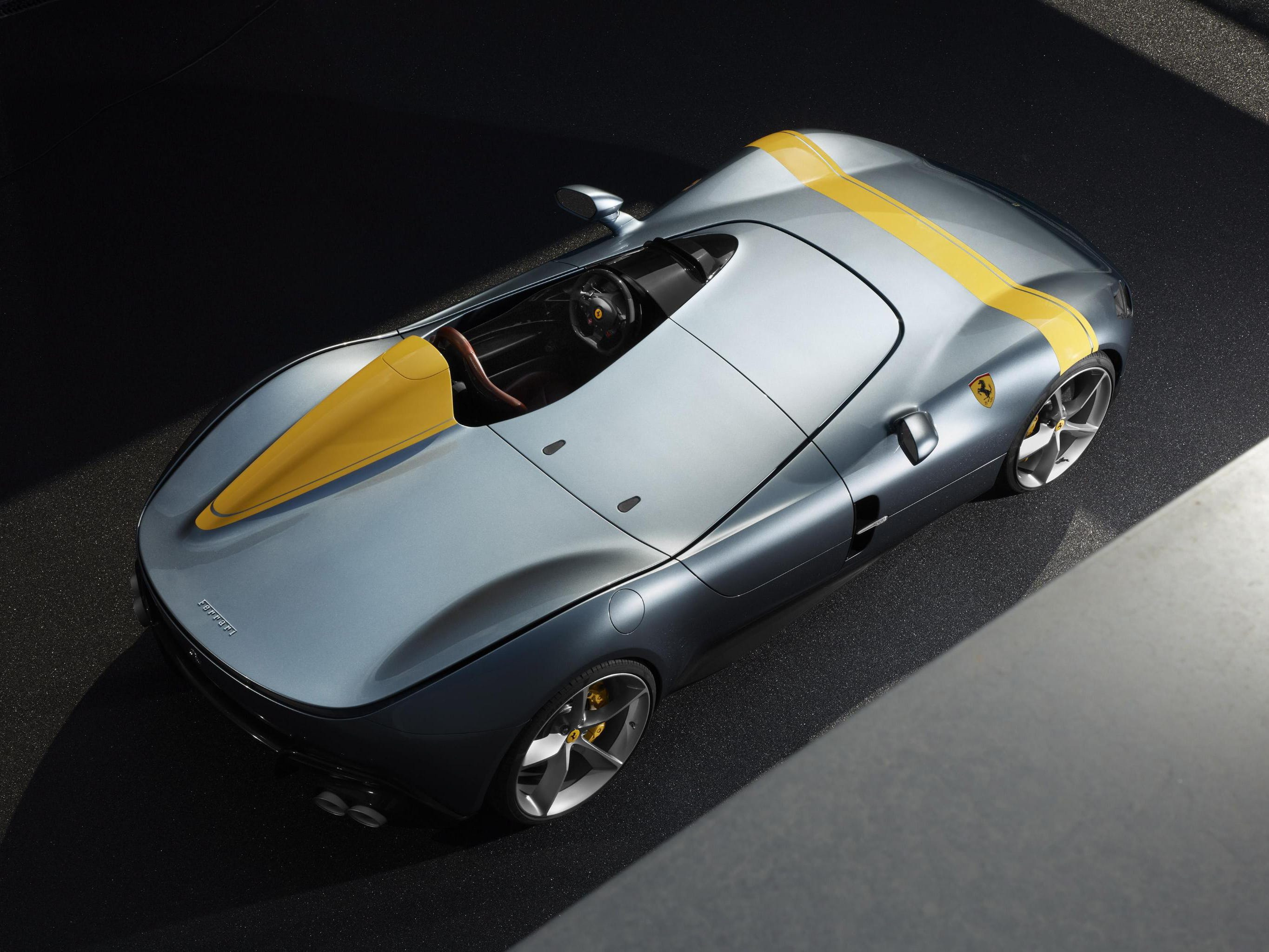 The Ferrari SP1 has only one seat.