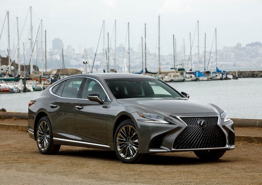 This undated photo provided by Toyota, shows the 2018 Lexus LS 500. Top-of-the-line Mercedes and Lexus vehicles have automatic steering avoidance, which means they can automatically swerve to avoid objects and pedestrians in their paths. (James Halfacre/Toyota Motor Sales U.S.A. via AP)