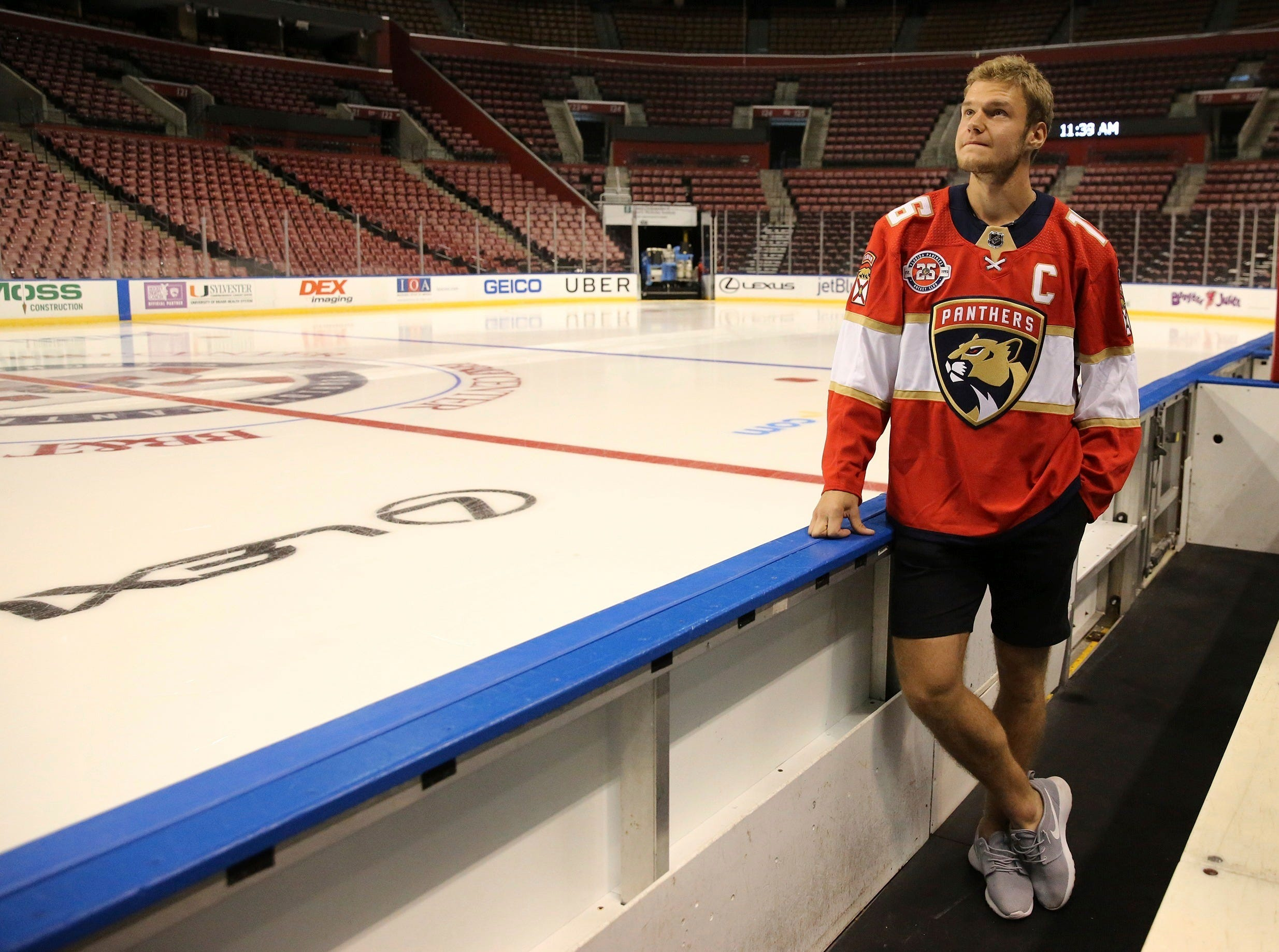 Sept. 17: Florida Panthers forward  Aleksander Barkov is named team captain.