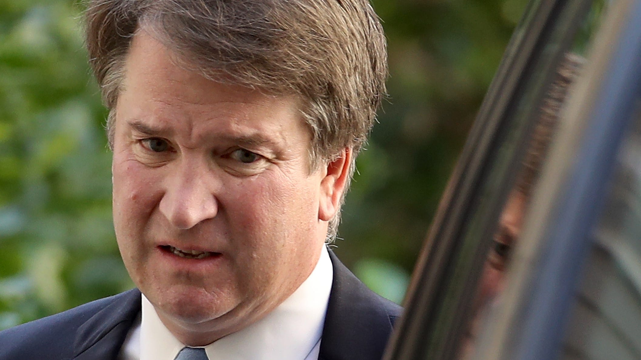 Supreme Court nominee Judge Brett Kavanaugh leaves his home September 19, 2018 in Chevy Chase, Maryland.