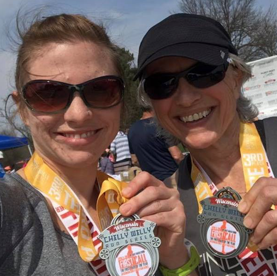 Carol Spaeth-Bauer, right, and her daughter Stephanie will run the Fox Cities Marathon on Sunday.