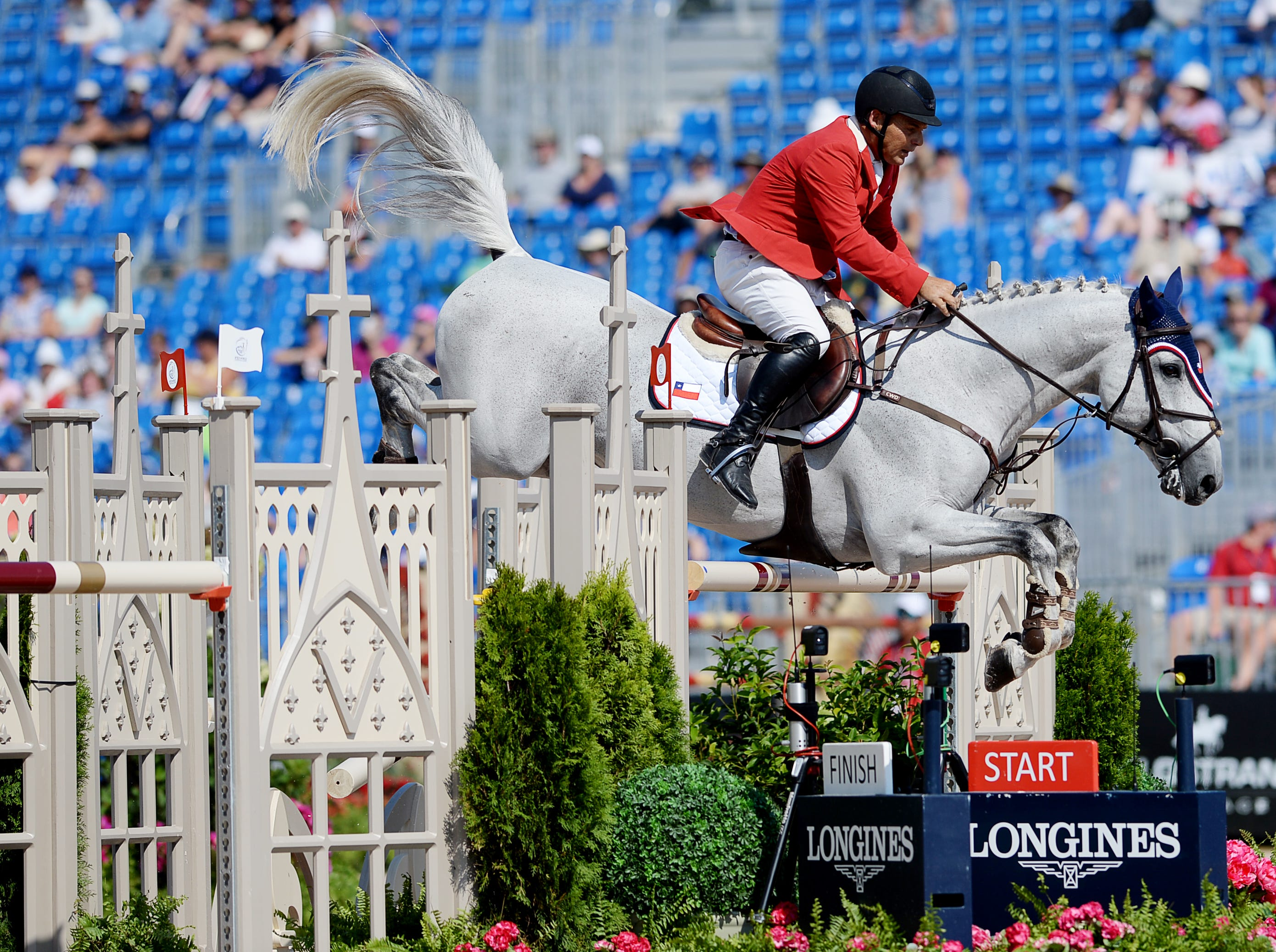 Scenes from the jumping competition at the World Equestrian Games Sept. 19, 2018.