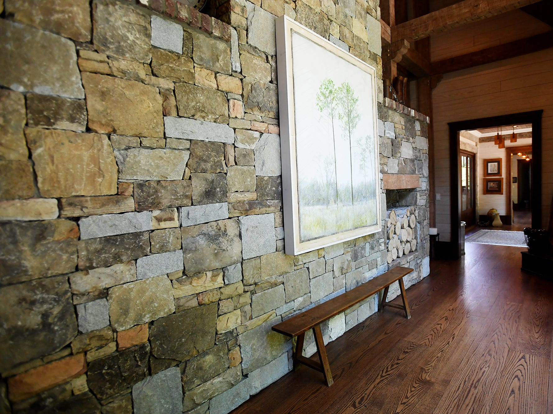 Inside the Balsam Mountain Preserve home of Bobbye and Ken Bowdon.