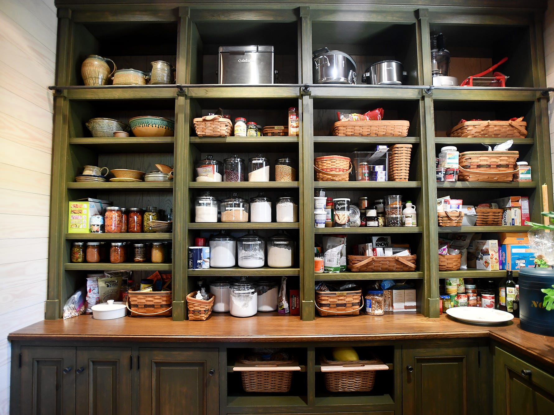 The pantry in the Balsam Mountain Preserve home of Bobbye and Ken Bowdon.