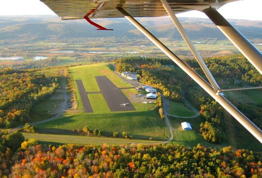 An aerial shot of Seneca Lake.