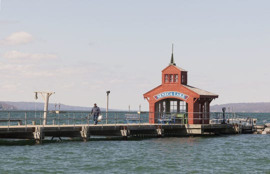 The Watkins Glen pier offers angling access far into Seneca Lake.