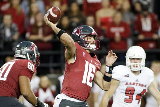 Washington State quarterback Gardner Minshew II has quickly picked up the Cougars' offense since arriving as a graduate transfer.
