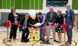 Klahowya Secondary School held a ribbon-cutting ceremony for its auxiliary gym on Wednesday, Sept. 19, 2018.