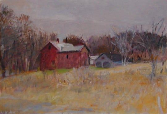 """Wolf Kahn's """"November in Vermont,"""" 1977."""