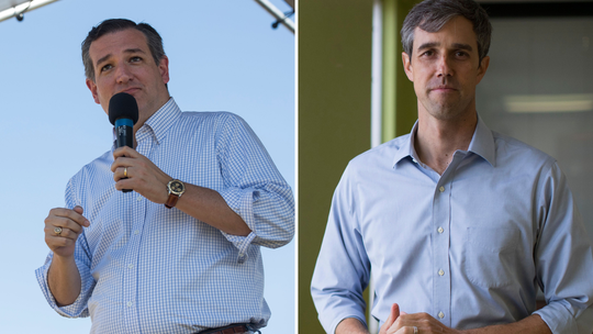 Republican U.S. Sen. Ted Cruz, left, and U.S. Rep. Beto O'Rourke, D-El Paso, are battling in Texas for a U.S. Senate seat.