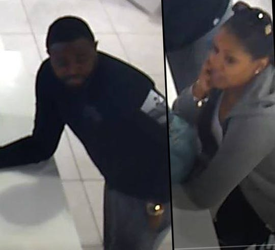 Police are looking for two individuals in reference to a theft at a Kicks USA store in Cherry Hill.