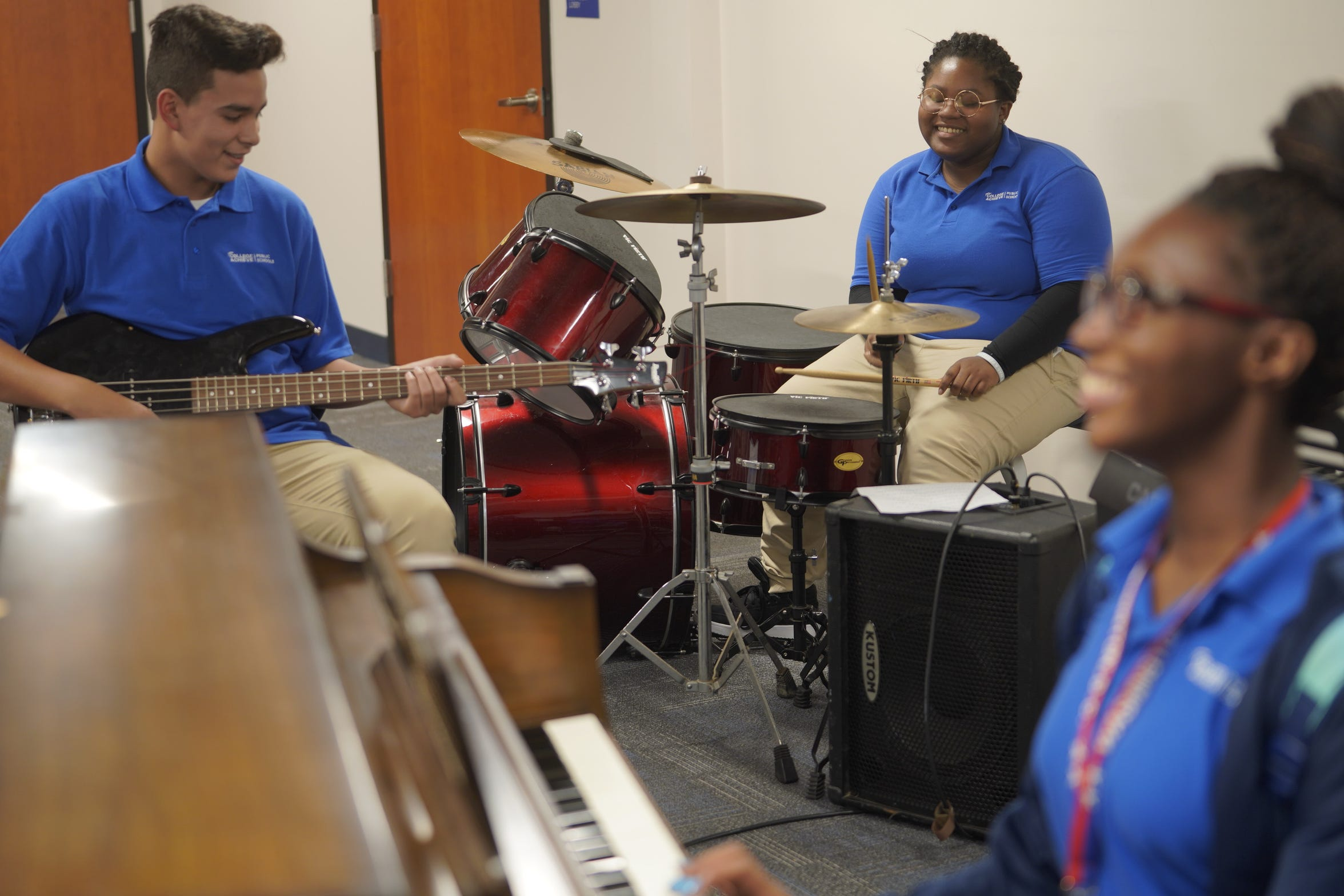 With fresh, bold blue paint on its pristine walls, College Achieve Central High School welcomed its first students Aug. 27. More than 300 students from Somerset, Middlesex and Union counties have been enrolled in the charter high school.
