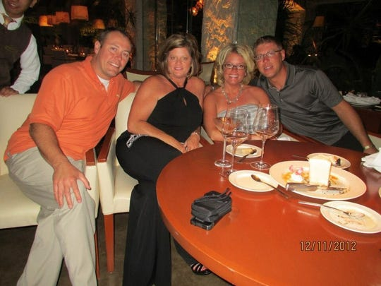 Dennis and Missey Michel, left, and Mindy and Jacob Seeman spent a much of their leisure and vacation time together.