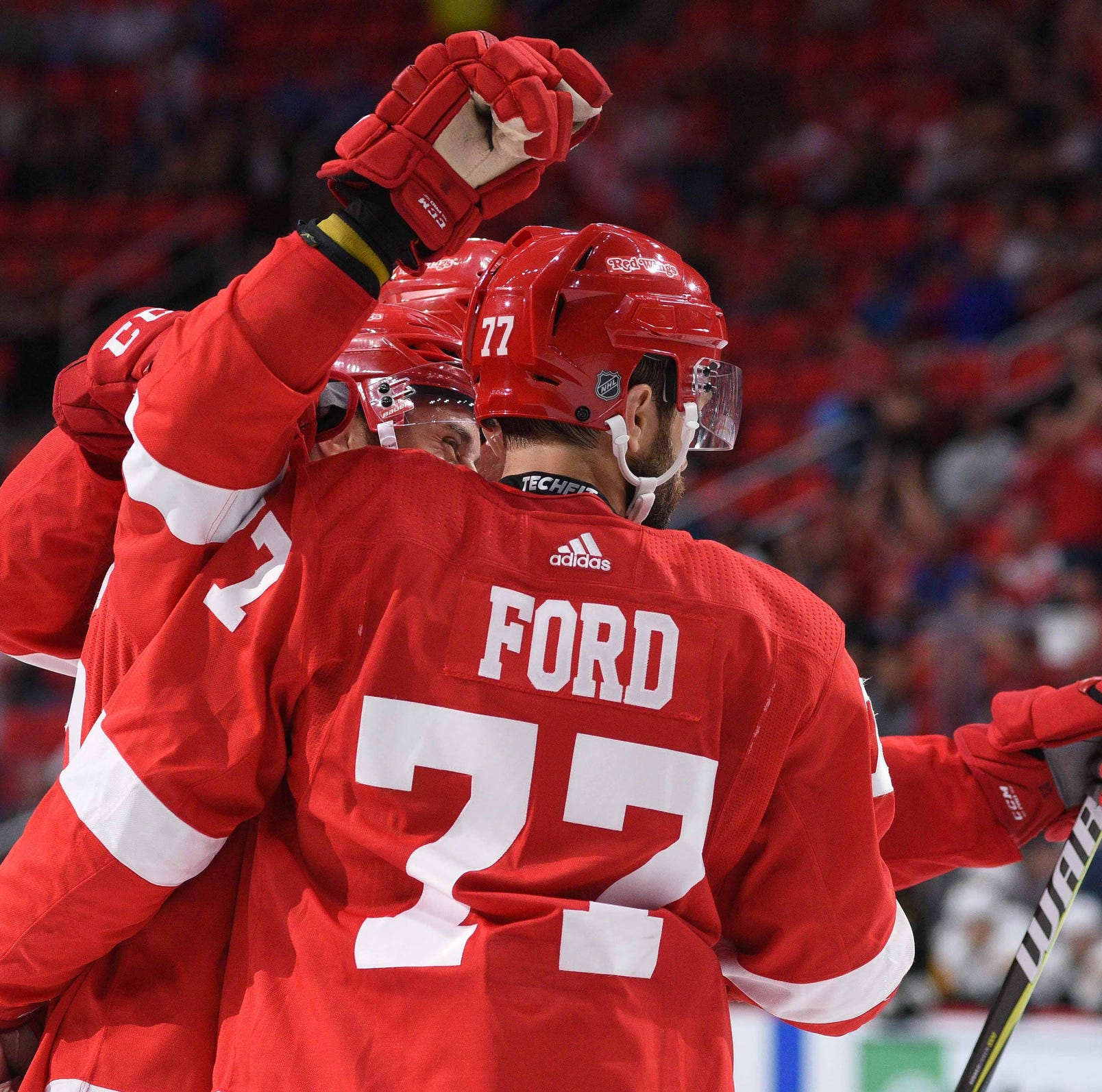 Detroit Red Wings' prospects get taste of NHL hockey in exhibition win