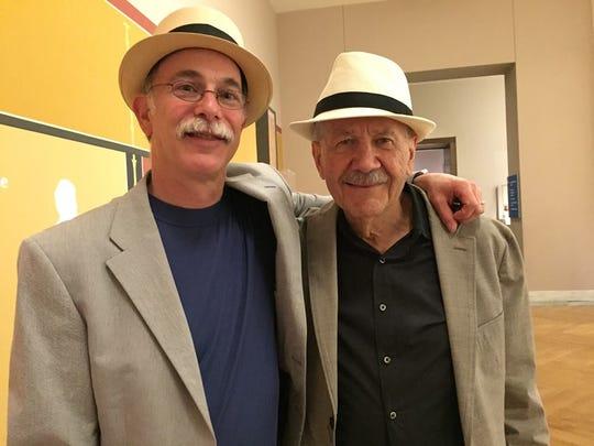 Former Free Press music critic Mark Stryker and David DiChiera in 2016.