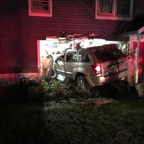 Half-naked man hiding in bushes accused of driving Jeep into house