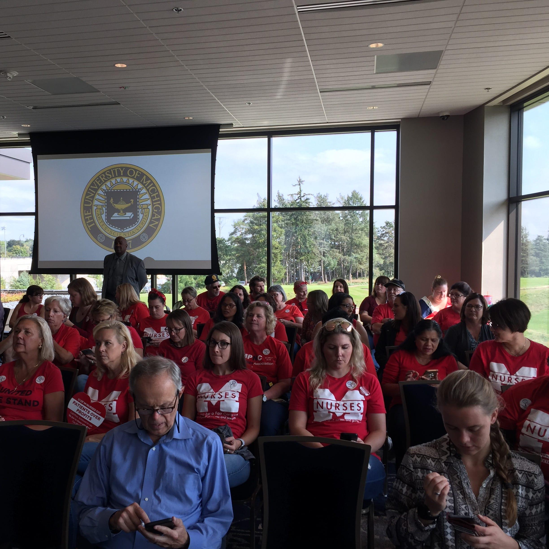 Nurses confront University of Michigan leaders as strike looms