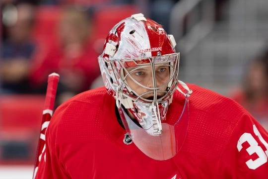 Harri Sateri, who had a brief stint with Red Wings, stopped 24 of 27 shots in Grand Rapids' 3-2 Game 2 loss at Chicago on Saturday.