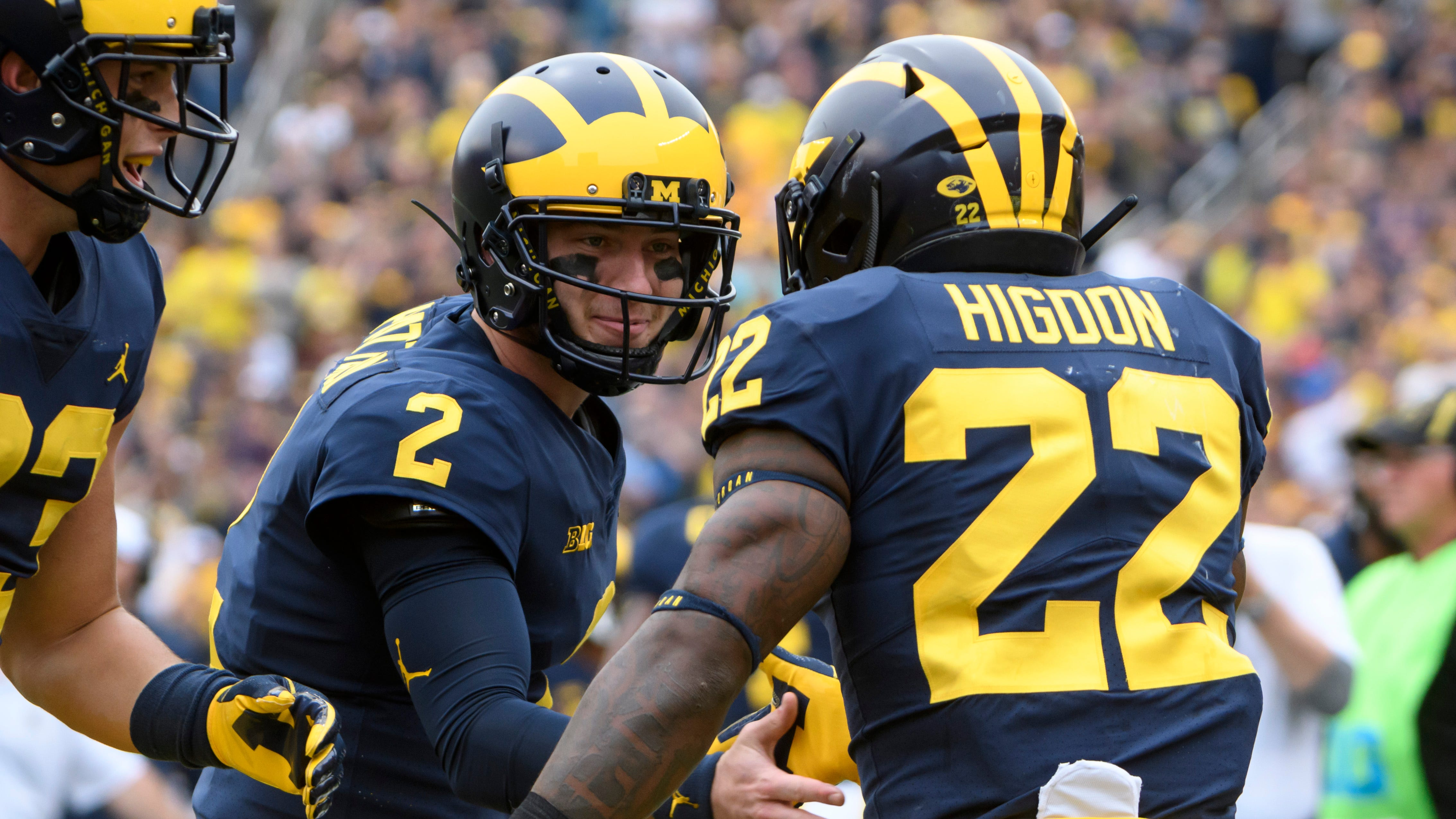Shea Patterson and Karan Higdon