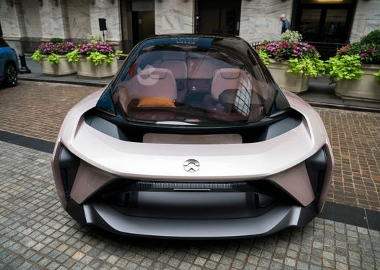 Chinese Electric Car Maker Nio Inc Opens Trading On Nyse On Day Of Company S Ipo