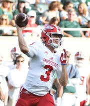 Indians quarterback Peyton Ramsey leads the Big Ten in completion percentage (.737).