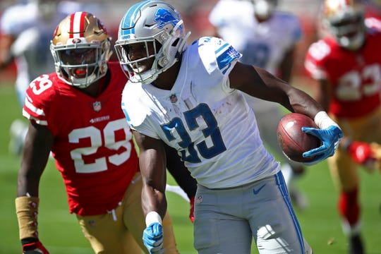 Signs point to a larger role for Lions rookie running back Kerryon Johnson.