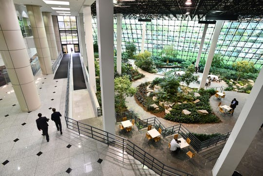 Southfield Town Center is one suburban office complex that's tried to reposition itself. Under new ownership since 2014, the 2.2 million-square-foot, four-tower center has received more than $55 million in updates, said Clarence Gleeson, senior vice president of Transwestern's office leasing group for the town center. The garden atrium, popular for weddings, will be getting some renovations including a sports bar on one of the levels.