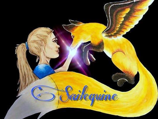 Watkins Glen artist Shane Dunn created the SailEquine logo for Foxtale Farm.