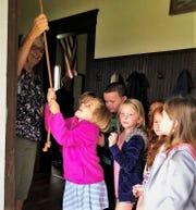 R.C. Waters Elementary School students visited a one-room school house recently.