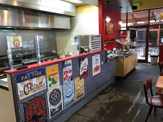 La Luz Mexican Grill offers fast casual counter service with different burritos and tacos.