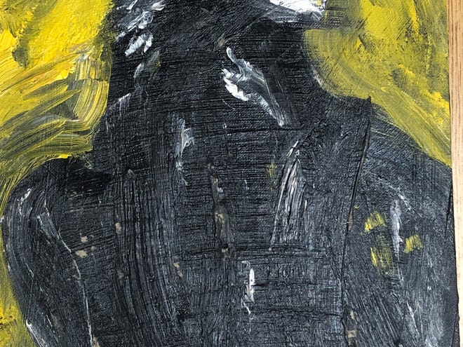 """""""Eagle,"""" a 1959 oil painting by Jack Kerouac"""