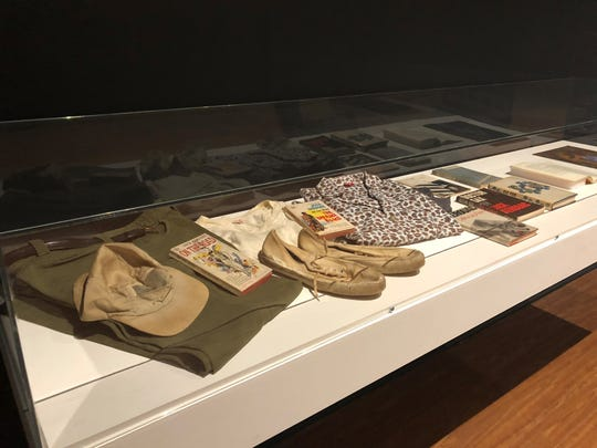 This case at Fort Myers' Rauschenberg Gallery displays legendary author Jack Kerouac's clothes, shoes and books.