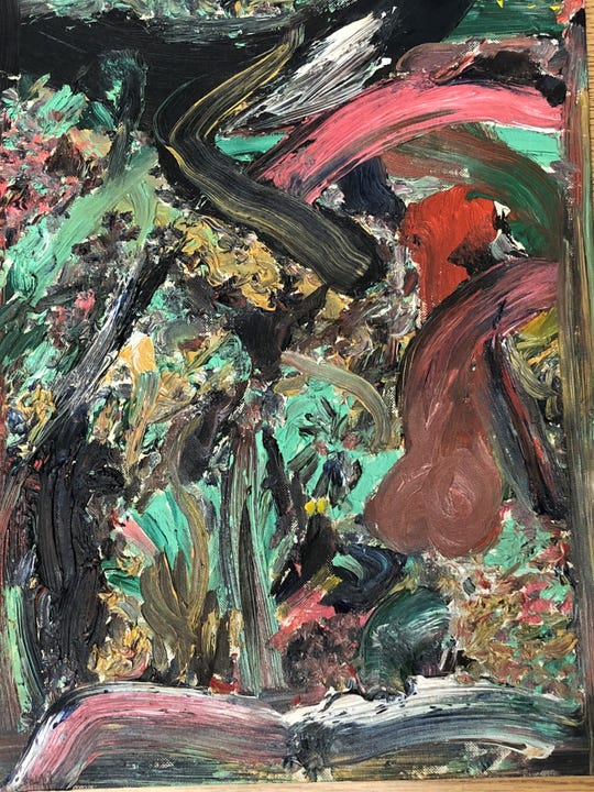 An abstract painting by Jack Kerouac