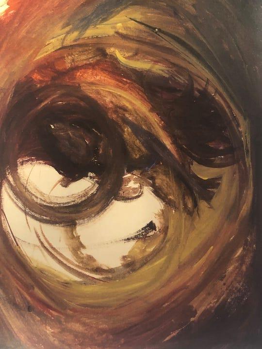 """Jack Kerouac's 1959 oil painting """"Truman Capote"""""""