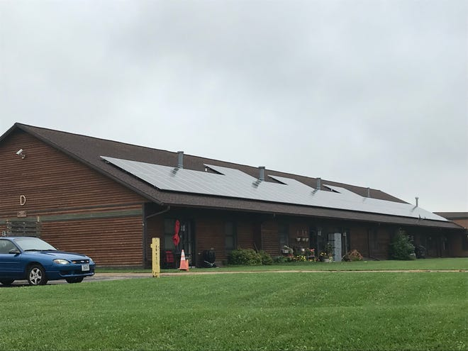 The Oneida Nation installed solar panels on the Oneida Elder Apartments  in the 2900 block of South Overland Road. The panels will save $80,000 in electricity costs per year.