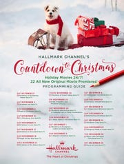 The Hallmark Channel's Countdown to Christmas includes dozens of movies, 22 of which are newly released.