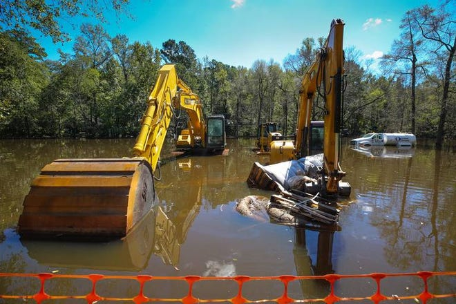 Huckleberry Park is a Superfund Project and was flooded by the rains from Hurricane Florence.