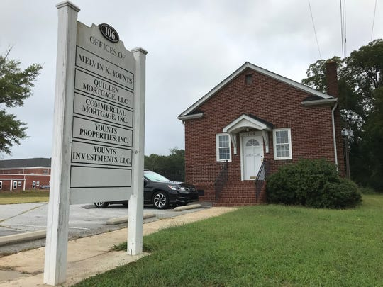 This photo, dated Sept. 11, 2018, shows the Fountain Inn office that attorney and real-estate investor Melvin Younts maintains for his various businesses. It is here that he met with Rebecca Heiss on July 6, 2018.